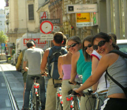 See Vienna`s main sights, on a city bike tour.