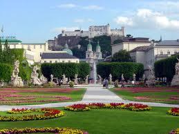 Salzburg city mirabell garden